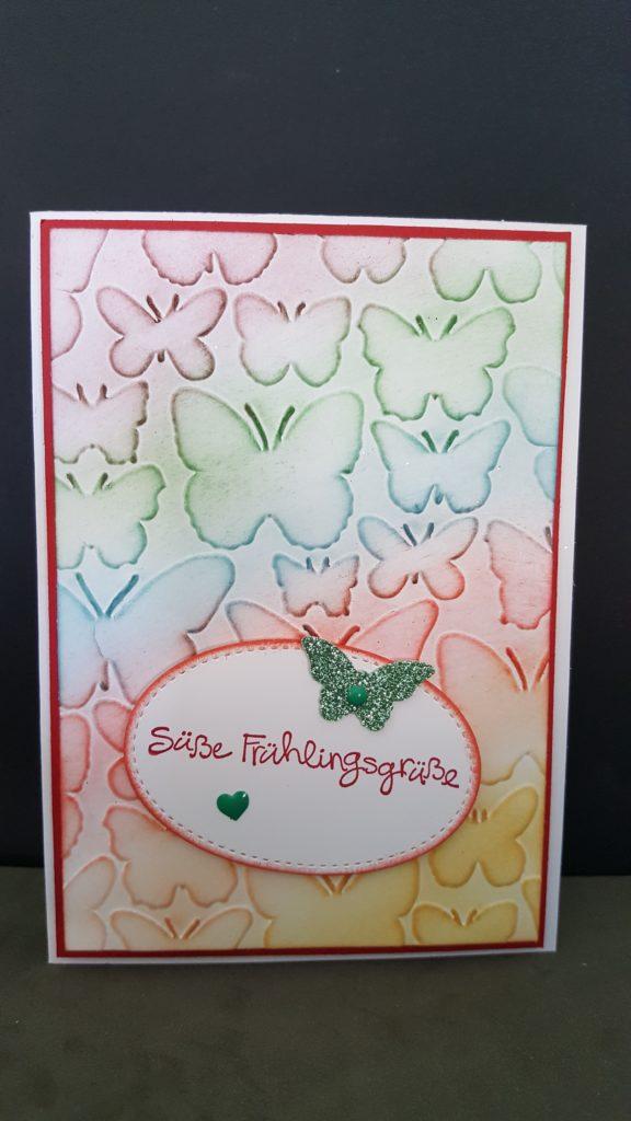Meine Schmetterlings - Frühlingskarte!